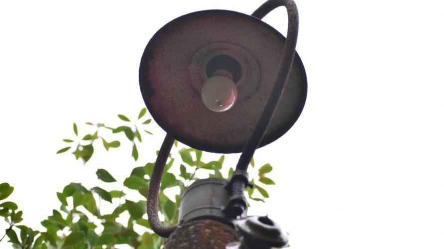 【別邸のレトロ電柱】千葉市ゆかりの家の庭に残る一本のレトロ電柱