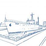 【稲毛散策②】埋め立てられた稲毛海岸を思い出させる軍艦、大正11年創業の海の家の現在とは…