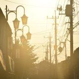 大穴北商店街とマジックアワー。商店街が光り輝く姿 -船橋