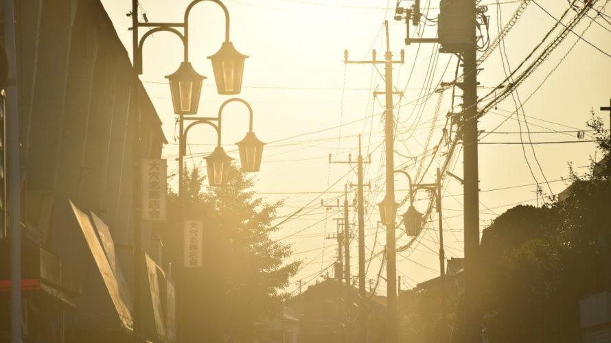 「大穴北商店街」とマジックアワー。商店街が光り輝く姿 -大穴①