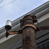 市川真間駅周辺で見つけた、レトロ電柱(コンクリート街灯)
