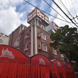 「市川駅前西通り」と、昭和のお城「ホテルシャトー」 ー市川駅北口