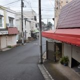 「西登戸駅」かつては千葉海岸駅として海水客で賑わった駅の商店街の名残?